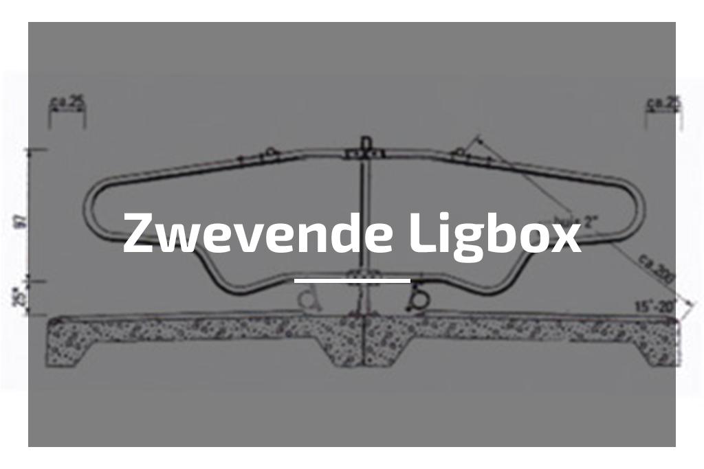 zwevende ligbox